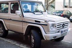 Front view of white Mercedes-Benz G-Class Royalty Free Stock Image