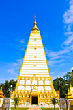 Front view of white pagoda Stock Images