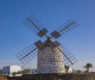 Front view of a windmill in Lajares Fuerteventura Las Palmas Can Stock Photography
