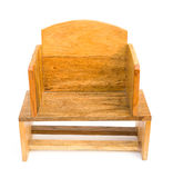 Front view wooden chair Royalty Free Stock Image
