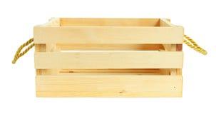 Front View Wooden Crate op witte achtergrond wordt geïsoleerd die Royalty-vrije Stock Afbeeldingen