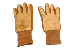 Front view of work gloves Stock Photo