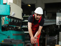 Front view of a worker Stock Images
