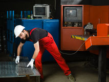 Front view of a worker Royalty Free Stock Photos
