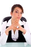 Front view of young female lawyer Royalty Free Stock Photography