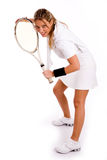 Front view of young tennis player Stock Photos