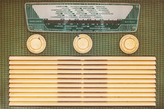 Front of a vintage plastic radio Royalty Free Stock Photo