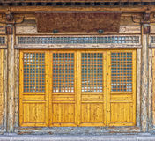 The front of vintage wooden house Royalty Free Stock Photography