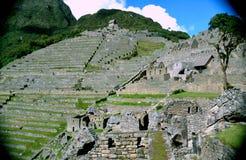 Front von Machu Picchu Stockfoto