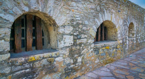 Front Wall of the Alamo. The wall in front of The Alamo royalty free stock images