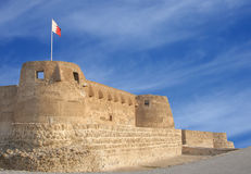 The front wall of Arad fort looking towards NE. Arad Fort is a 15th century fort in Arad, Bahrain Stock Image