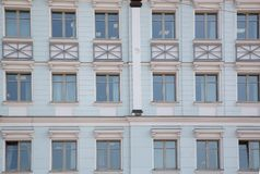 Front wall with repeting pattern of windows Stock Photography