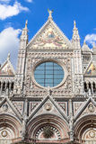 Front wall of the Siena Cathedral, Tuscany, Italy Royalty Free Stock Photography