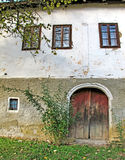 Front wall of a traditional Turkish village house Stock Photos