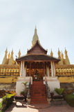 Front of Wat Pha That Luang Royalty Free Stock Image