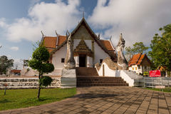 Front of wat Phu Mintr temple Stock Images