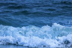 The in front of water wave stock image