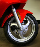 Front wheel. Of a red scooter Royalty Free Stock Image