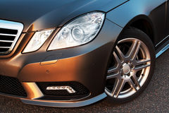 Front wheel, bumper and light detail Royalty Free Stock Photos