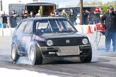 Front wheel drag car Stock Image