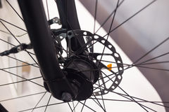 Front wheel hub of bicycle Royalty Free Stock Photo
