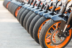 Front wheel of KTM Duke 390 Royalty Free Stock Image