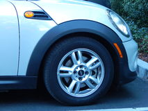 Front Wheel Mini-Cooper Royalty Free Stock Photo