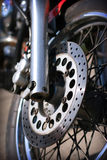Front wheel of the motorcycle Stock Photography