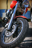 Front wheel of the motorcycle Royalty Free Stock Photography