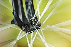 Front Wheel Of New Bicycle Foto de archivo libre de regalías
