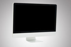 Front white computer monitor Royalty Free Stock Photo