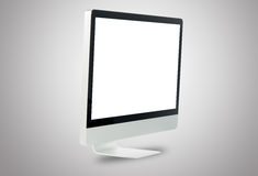 Front white computer monitor Royalty Free Stock Image