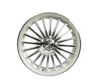 Front White wheel Royalty Free Stock Photo