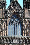 Front window of Cathedral, Lichfield, England. Stock Image