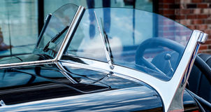 Front window of retro car Royalty Free Stock Photo
