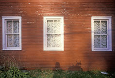 Front windows of house,  New England Stock Image