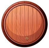 Front of Wine Oak Barrel on White Background royalty free illustration