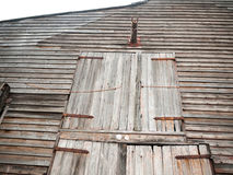 Front of wooden old house rural shipbuilding yard special rustic. England; UK Royalty Free Stock Images