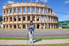 In Front of the 'Colosseum' Stock Photography