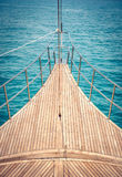 Front of yacht deck Stock Photography