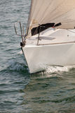 Front of yacht sailing. Travel Concept. Vacation Stock Photography
