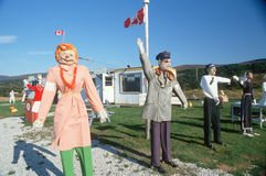 Front yard dummies, Nova Scotia, Canada Royalty Free Stock Images