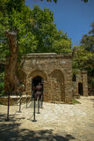 Front yard of House of Virgin Mary - Ephesus. Entrance of House of Virgin Mary in Ephesus Royalty Free Stock Image