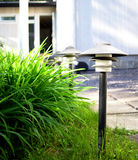 Front yard lamps Stock Photo