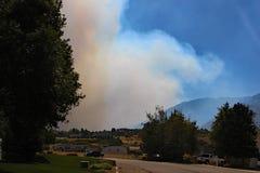 Front Yard View, Elk Ridge, Utah stock photo