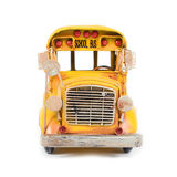 Front of yellow retro school bus. Stock Images