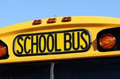 Front of a yellow school bus Royalty Free Stock Images
