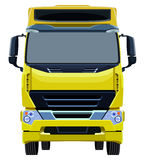 Front yellow truck Stock Image
