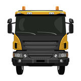 Front yellow truck Stock Images