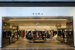 Front of Zara store Stock Photo